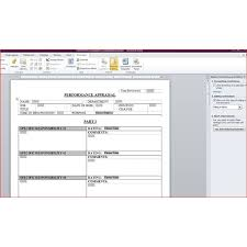 Free Downloadable Performance Appraisal Form