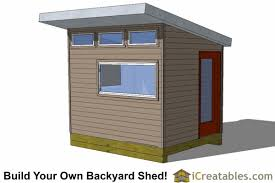 Office shed plans Framing 8x10 Modern Shed With Side Doors Icreatables Modern Shed Plans Modern Diy Office Studio Shed Designs