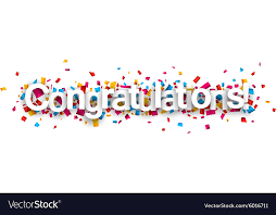 Congratulations Design Congratulations Paper Confetti Sign