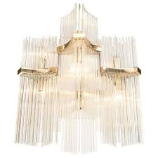 1920s es crystal rod chandelier 20 gaetano sciolari six arm glass rod and brass chandelier 1 wrought iron crystal chandelier lighting country french