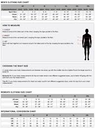 Adidas Size Chart Women S Clothing Adidas Clothing Size Chart Women S Best Picture Of Chart