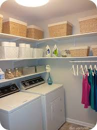 Add Shelving to Unused Corners. Laundry Room With Adjustable Shelving