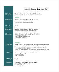 Free 22 Training Agenda Examples Samples In Pdf Doc