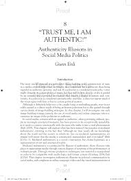 (PDF) <b>Trust Me I Am</b> Authentic! Authenticity Illusions in Social Media ...