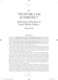 (PDF) <b>Trust Me I Am</b> Authentic! Authenticity Illusions in Social Media ...