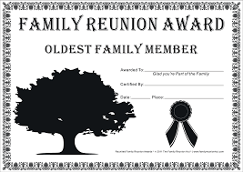 For Family Pictures Reunion Activities Family Reunion Certificates Hope Tree 18 Is