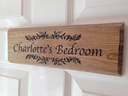 personalised oak bedroom door sign personalised oak bedroom door signs