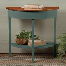 country shaker half round table