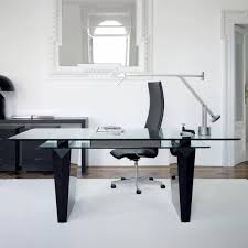 office desk  modern glass desk glass top for desk glass executive