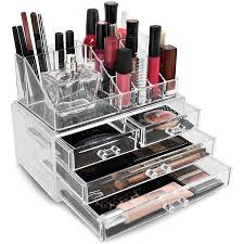 makeup organizer drawers walmart. sorbus acrylic cosmetics makeup organizer case storage insert holder box drawers walmart n