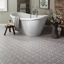 bathroom vinyl flooring. Grey Designer Vinyl Flooring In A Bathroom L