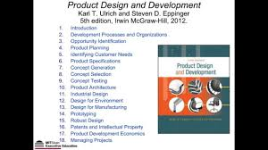 Product Design Development Ulrich Webinar With Steve Eppinger Systematic Innovation By Design