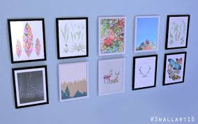 >wall art set 4 at watasim sims 4 updates wall art set 4 at watasim