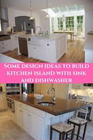 Some design ideas to build kitchen island with sink and dishwasher  #KitchenIslandIdeas