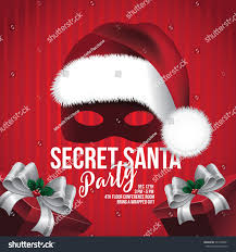 stock vector secret santa template with hat and mask eps vector reference of secret