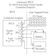 electronic design schematic circuit power diagram 12 volt 9 amp solar power center kit system