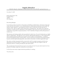 Ideas Of Healthcare Administration Cover Letter Examples Enom Warb