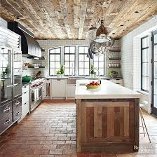 Wood ceiling kitchen False Ceiling Reclaimed Wood As Ceiling And Kitchen Island Better Homes And Gardens 20 Brilliant Uses For Reclaimed Wood
