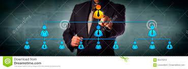 Chairman Highlighting Ceo In Organization Chart Stock Photo