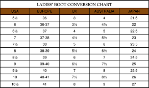 Old West Boots Size Chart Wild West Mercantile