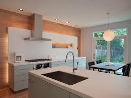 wall accent lighting. Plain Wall Modern Kitchen With Wood Accent Wall Inside Lighting N