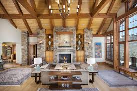 fascinating craftsman living room chairs furniture: craftsman living room with large window view and vaulted ceiling