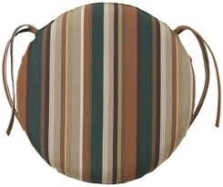 Small Picture 18d All weather Round Chair Cushion 2Hx18D RUSTIC STRIPE by