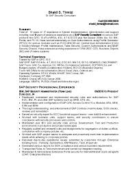 Sap Security Consultant Resume Samples Best Of Shakil Sap Security Resume24