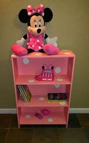 Minnie Mouse Decorations For Bedroom A Brokenthrift Bookcase Redone Into Pink W White Polka Dots