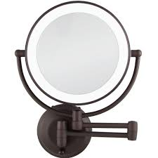 w led lighted wall makeup mirror in