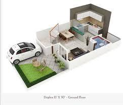 450 square feet double floor duplex