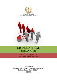 organizational change an organizational behavior project