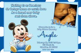 Free Mickey Mouse Baby Shower Invitation Templates Baby Shower Ideas