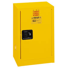 flammable liquids safety storage cabinet 12 gal manual closing 23 1 4 w x 18 d x 35 h