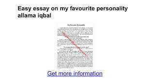 easy essay on my favourite personality allama iqbal google docs