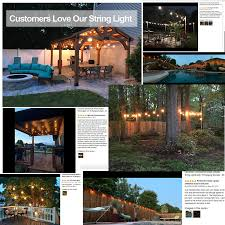 Lemontec Commercial Grade Outdoor String Lights Lemontec Commercial Grade Outdoor String Lights With 15
