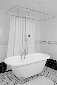 free standing tub shower awesome freestanding with marble herringbone tile floor next to in addition 14