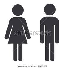 bathroom sign vector. Bathroom Sign Man And Woman Vector O
