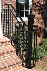 Stairs, Outstanding Outdoor Wrought Iron Stair Railing Hand Railings For  Steps Black Outdoor Wrought Iron
