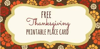 Fall Place Cards 13 Sets Of Free Printable Thanksgiving Place Cards
