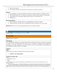 Pen Test Report Template Awesome College Lab Dye Penetration Sample ...