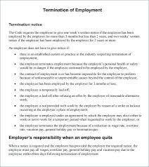 Employment Termination Letter Format Written Notice To Employer Quit ...