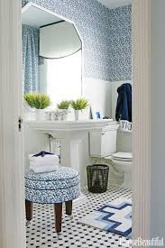 White bathroom tiles Vertical House Beautiful 12 Best Blue Bathroom Ideas How To Decorate Blue Bathrooms