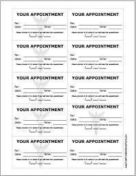 Appointment Card Template Patient Appointment Cards Template Printable Medical Forms
