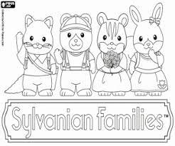 Kleurplaat Kleine Dieren Van Sylvanian Families Kleurplaten