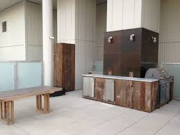 Custom Outdoor Kitchen Designs Cool Custom Outdoor Kitchen With Reclaimed Wood Cabinets Carrara Etsy