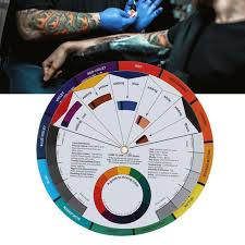 Eternal Ink Colour Chart Multifunctional Color Wheel Tattoo Ink Chart Tattoo Pigment Mix Color Guide Tool