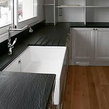 slate countertop kitchen black