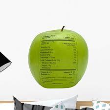 Green Apple Nutrition Chart Amazon Com Wallmonkeys Green Apple With Nutrition Facts