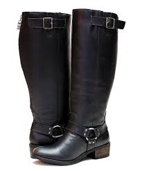 all gone black alamo extra wide calf leather boot